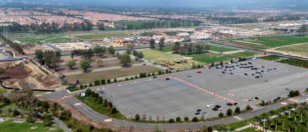 Groundbreaking Parking Lot