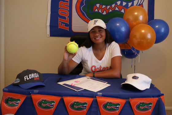 El Dorado's Jordan Matthews, a senior shortstop who signed with Florida, batted .542 in 2016, scored 20 runs, drove in 20 more, and finished with 39 hits. She is considered one of the top 100 recruits nationally. (Courtesy Nadia Martinez)