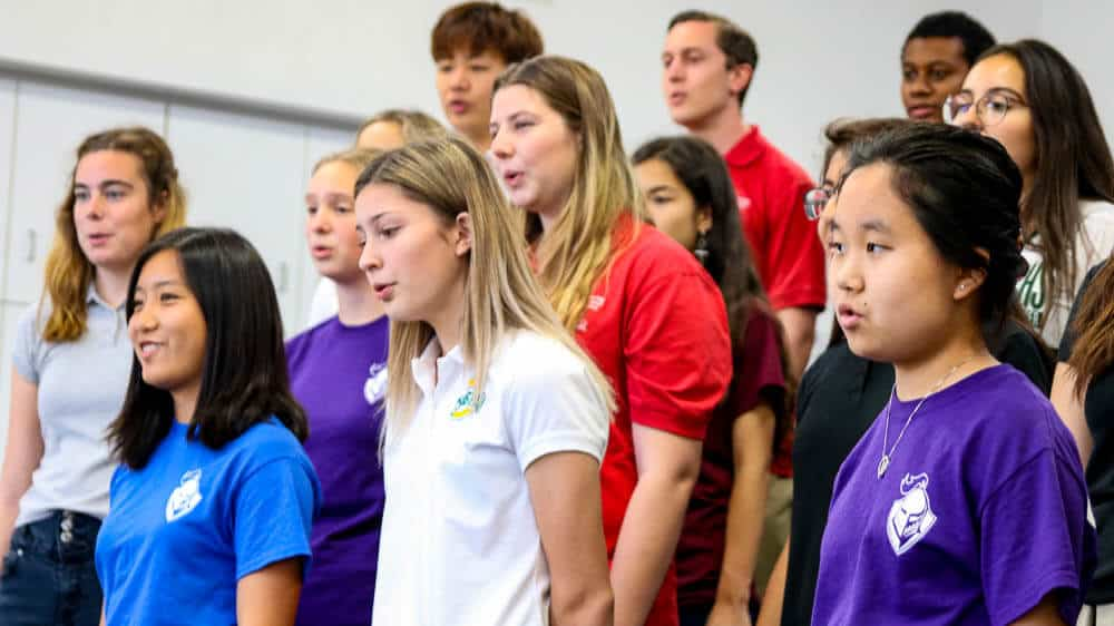 Choir students representing the Performing Arts program at Ontario Christian High School