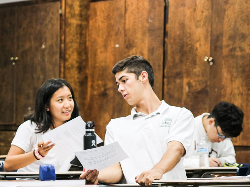 International Student in Class