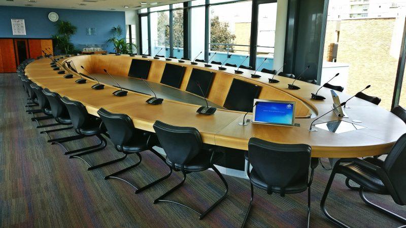 Installation audiovisuelle salle du conseil