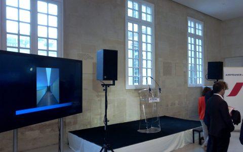 Sonorisation de discours et projection de vidéo