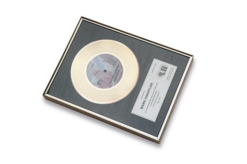 Goldene Schallplatte von Mark Knopfler