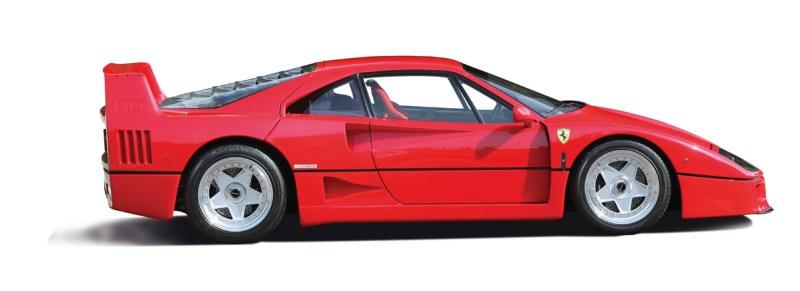 Ferrari F40 im Profil
