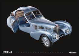 Bugatti - OCTANE Klassiker Kalender 2019 – Februar