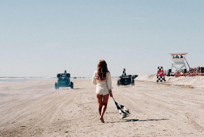 #21, Hot Rod, dort Track, Amerika, Strandrennen