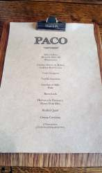 The Chef's Menu Paco Tapas