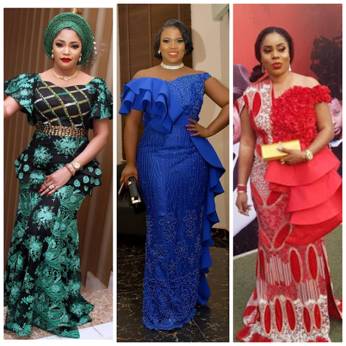 30 Colourful Pictures of the Latest Aso-Ebi styles 2018 Seen Over ...