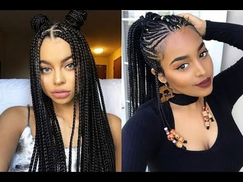 2018 Latest Braided Hairstyles Get Ideas Of Black Braided Hairstyles