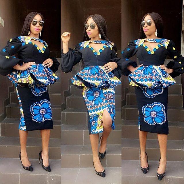 Top 20 Latest Ankara Styles Designs 2019: Beautiful Ankara Skirt And Blouse Styles 2019