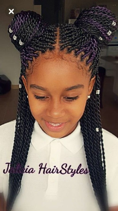 braid hair styles for little girls black 40 braided hairstyles 9079 | 1544989233 687 Little Black girls 40 Braided Hairstyles