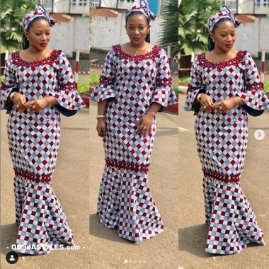ankara latest styles ankara latest styles - Ankara Latest Styles 44 380x380 - African Fashion: 70+ Creative, Trendy and Stylish Ankara Latest Styles