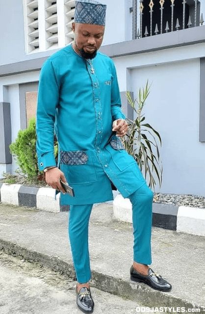 Native Casual Dress Outfits for Nigerian Men native casual dress outfits for nigerian men - Native Casual Dress Outfits for Nigerian Men 2 418x640 - Smart Native Casual Dress Outfits for Nigerian Men
