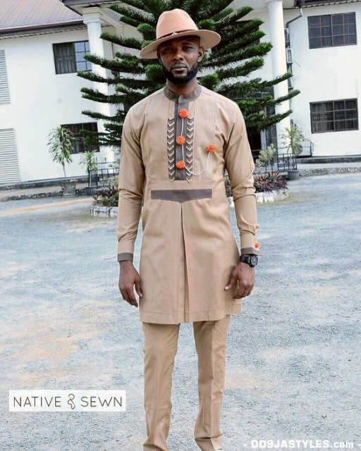 Native Casual Dress Outfits for Nigerian Men native casual dress outfits for nigerian men - Native Casual Dress Outfits for Nigerian Men 4 512x640 - Smart Native Casual Dress Outfits for Nigerian Men