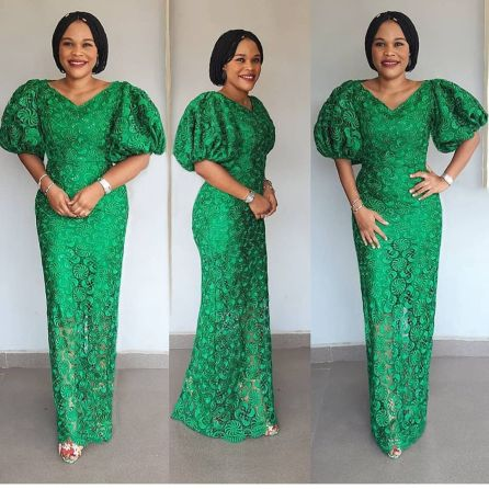 Aso Ebi Styles 2020 aso ebi styles 2020 - Aso Ebi Styles 2020 11 380x380 - 30 Aso Ebi Styles 2020 For Classy African Ladies To Try Out