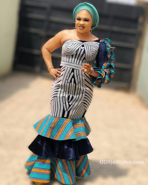 long gown ankara styles pictures long gown ankara styles pictures - long gown ankara styles pictures 16 - Stunning! See The 35 Latest Long Gown Ankara Styles Pictures We Are Currently Vibing With