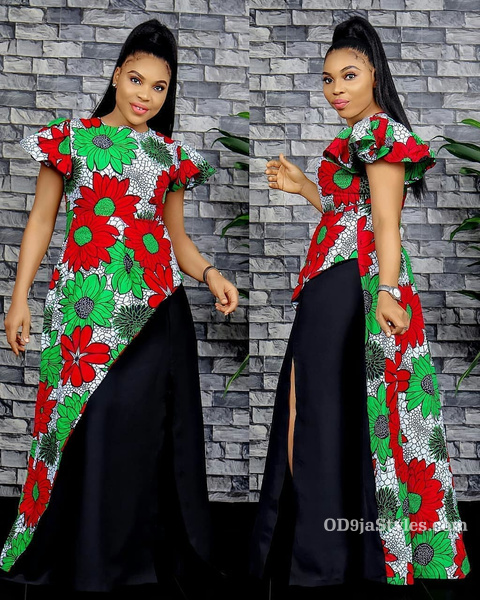 long gown ankara styles pictures long gown ankara styles pictures - long gown ankara styles pictures 6 - Stunning! See The 35 Latest Long Gown Ankara Styles Pictures We Are Currently Vibing With