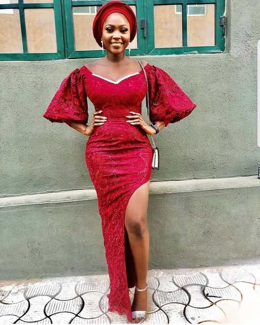 50 Most Beautiful and Creative Wedding Guest Styles You Will Love wedding guest styles - od9jastyles aso ebi styles 2 512x640 - 100 Most Beautiful and Creative Wedding Guest Styles You Will Love