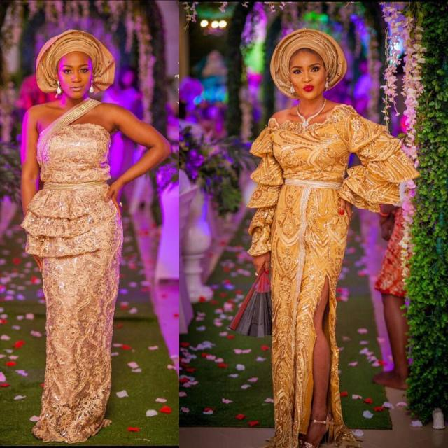Gold Lace AsoEbi Dresses gold lace asoebi styles - 50099276 819389631739894 8464231720982810644 n 640x640 - These 25 Gold Lace AsoEbi Dresses Are Nothing But Stunning and Gorgeous
