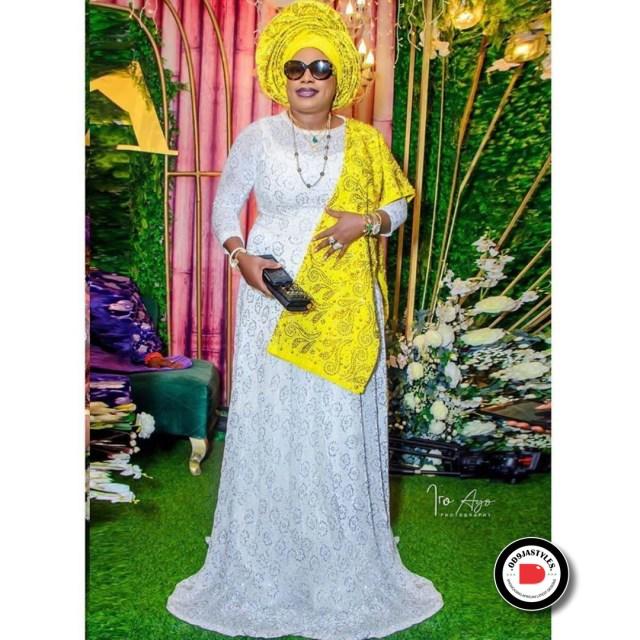 Elegant Lace Aso-Ebi Styles elegant lace aso-ebi styles - Elegant Lace Aso Ebi Styles 25 640x640 - 35 Elegant Lace Aso-Ebi Styles To Inspire Your Next Owambe Outfit