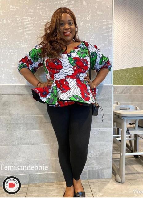Peplum Skirt and Ankara Blouse Styles peplum skirt and ankara blouse styles - Peplum Skirt and Ankara Blouse Styles 22 464x640 - 45 Elegant and Stylish Ways To Rock Your Peplum Skirt and Ankara Blouse Styles
