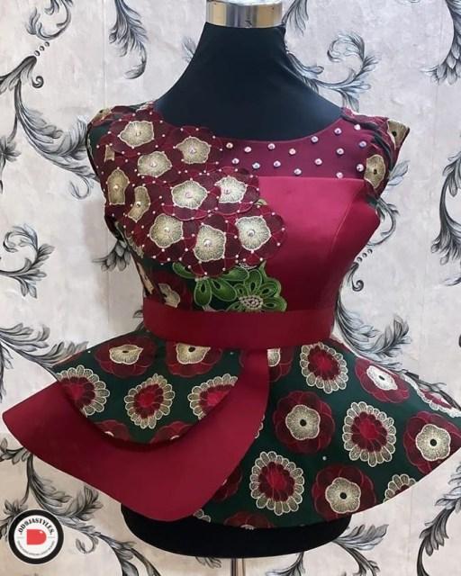 Peplum Skirt and Ankara Blouse Styles peplum skirt and ankara blouse styles - Peplum Skirt and Ankara Blouse Styles 28 512x640 - 45 Elegant and Stylish Ways To Rock Your Peplum Skirt and Ankara Blouse Styles