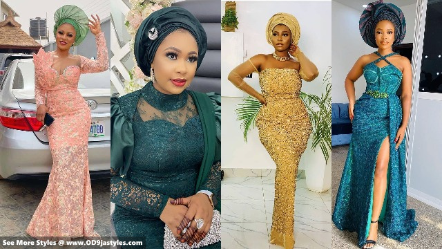 Aso Ebi Styles for Weddings Trendy styles for ladies to rock