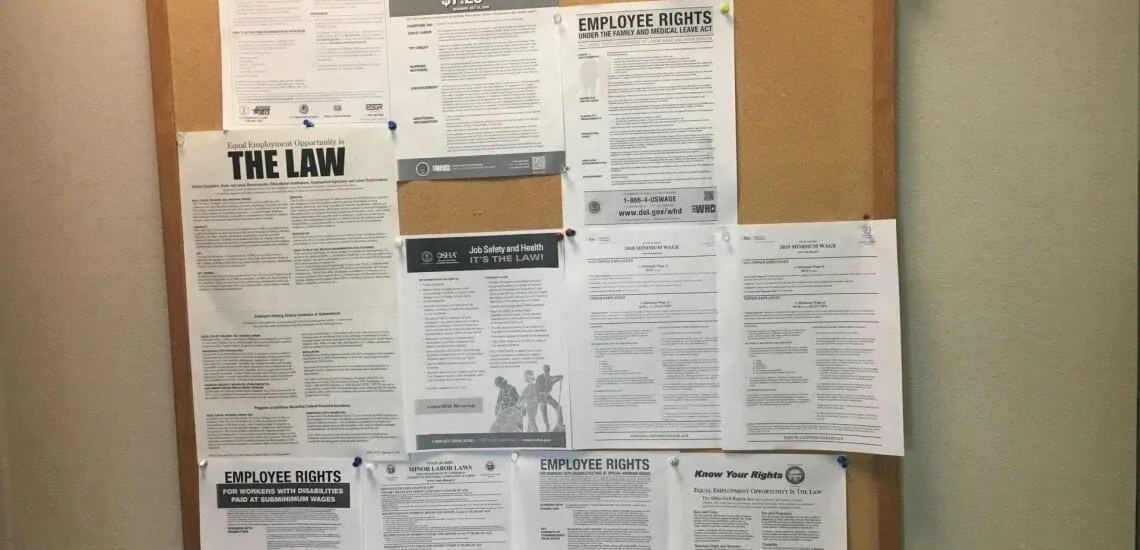 employment law posters office