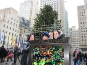 Picture in front of the Rockefeller Center Christmas Tree