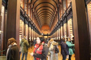 The Long Room, Trinity College. Sightseeing in Dublin