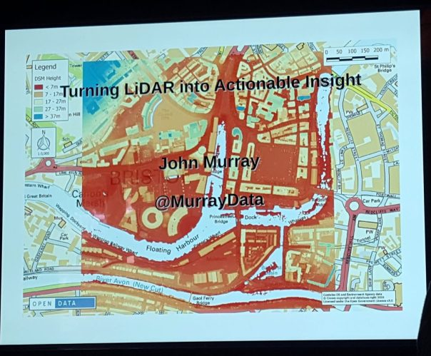 Turning LiDAR into actionable insight - first slide from John Murray's session