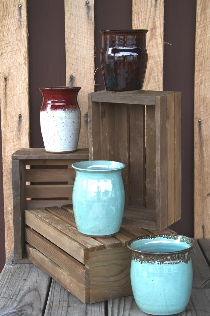 A few pots by Greg Hall