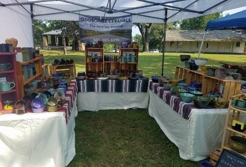 Oddbowlz booth at 2017 Clothesline Fair in Prairie Grove, Arkansas