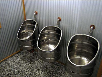 15 Weirdest Toilets and Urinals   strange toilet   Oddee When beer kegs get old  they are retired and you can recycle them    Like  these urinals at Monteith s Brewery  New Zealand