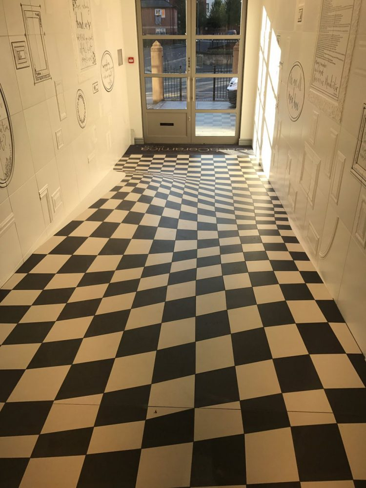 Company Uses Optical Illusion Floor Tiles to Prevent People Running ...