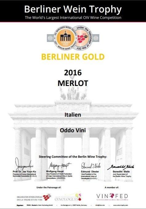 Berliner Gold - Merlot 2016