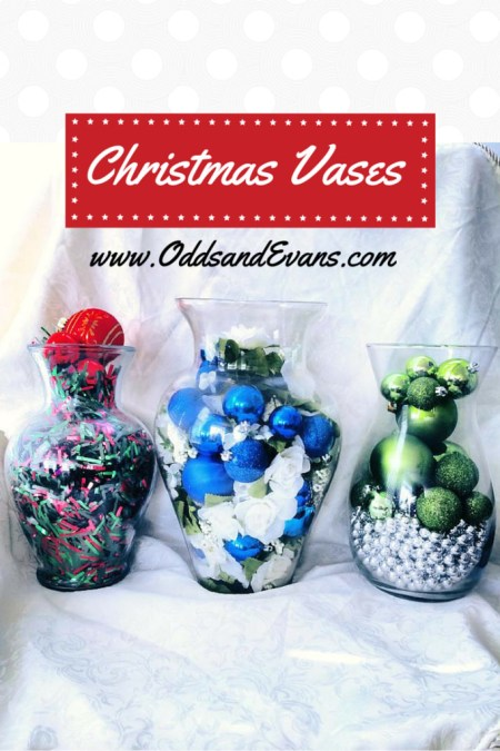Christmas Vases Holiday Decorations DIY Easy