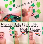 Lucky Bath with Craft Foam Shamrocks and Rainbows