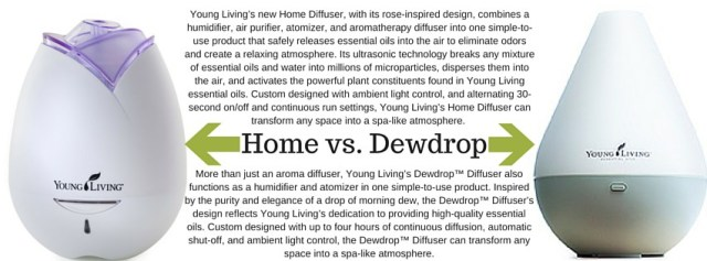 Home vs. Dewdrop Diffuser - young living essential oils