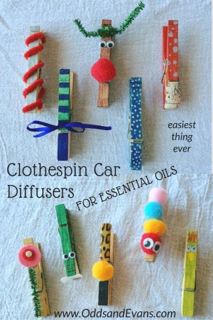 Clothespin Diffuser for Essential Oils in the Car On the Go