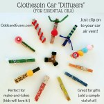 Clothespin Car Diffusers for Essential Oils