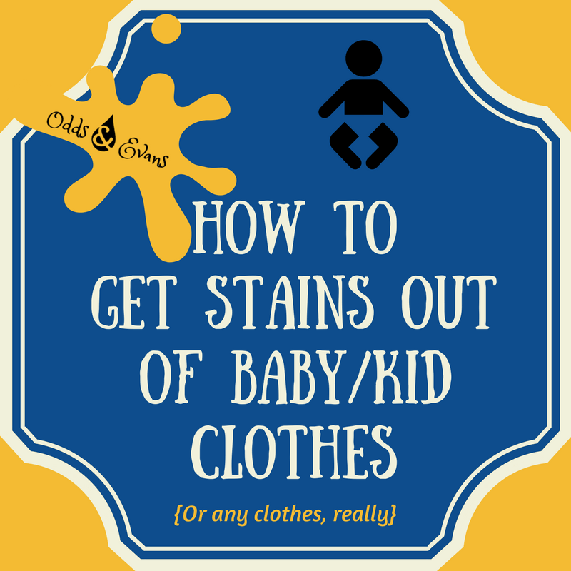 Easy Homemade Stain Remover - (How To Get Stains Out of Baby/Kid Clothes)