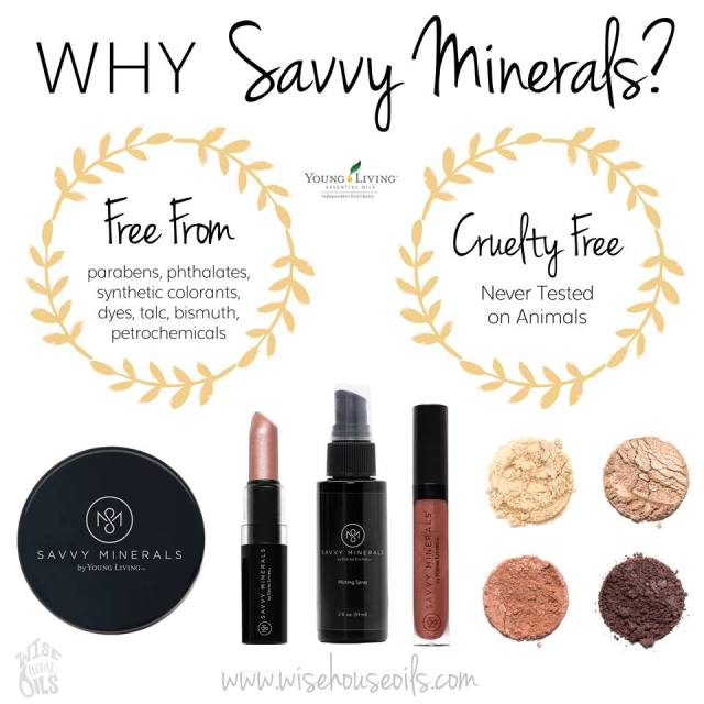 Switch to natural cruelty free makeup Savvy Minerals by Young Living