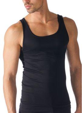 MEY Software Athletic Shirt schwarz Herren mit MicroModal® Frontansicht