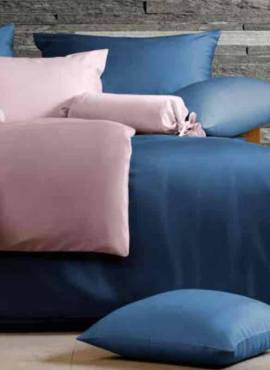 HEFEL Classic Collection Uni blau rosa TENCEL™ Lyocell