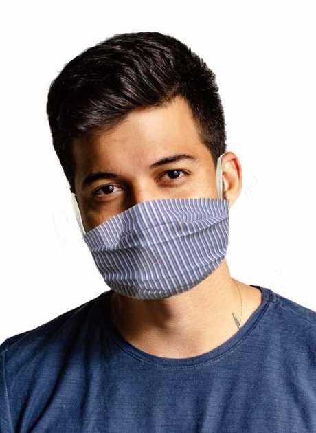 Mund Nasen Maske Lyocell Baumwolle gestreift als Schutz