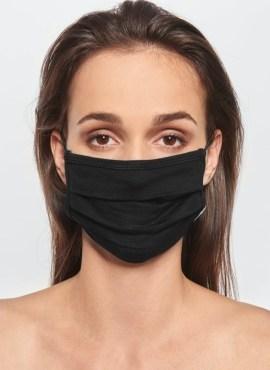 Mund Nasen Maske Viskose Givn black