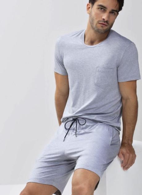 MEY Jefferson T-Shirt MicroModal lightgrey melange