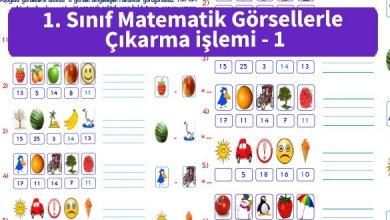 Photo of İlkokul 1.Sınıf Matematik Görsellerle Çıkarma işlemi – 1