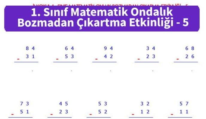 ilkokul_1_Sinif_Matematk_Ondalik_Bozmadan_Cikartma_Etkinligi_5_ornek_resim